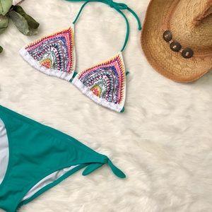 VICTORIA'S SECRET Boho Rainbow Embellished Bikini